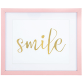 Smile Framed Wall Decor